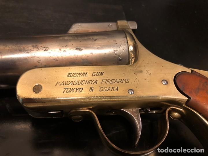"Militaria: Pistola de bengalas KAWAGUCHIYA FIREARMS/ TOKYO & OSAKA"". 1956 - Foto 3 - 221248471"