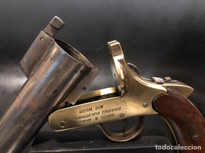 "Militaria: Pistola de bengalas KAWAGUCHIYA FIREARMS/ TOKYO & OSAKA"". 1956 - Foto 6 - 221248471"