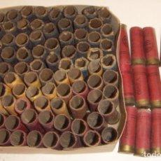 Militaria: LOTE DE 95 CARTUCHOS CALIBRE 12 DESCARGADOS. Lote 221550132