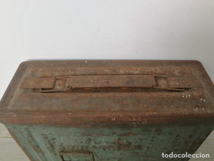 Militaria: CAJA CANCO DE MUNICIÓN DE 2ª II WW GUERRA MUNDIAL - CAL 30 M1 - US - AMMUNITION BOX PARA BROWING CON - Foto 4 - 222701056