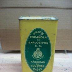 Militaria: ANTIGUA LATA DE POLVORA-VACIA- UNION ESPAÑOLA DE EXPLOSIVOS. Lote 222931861