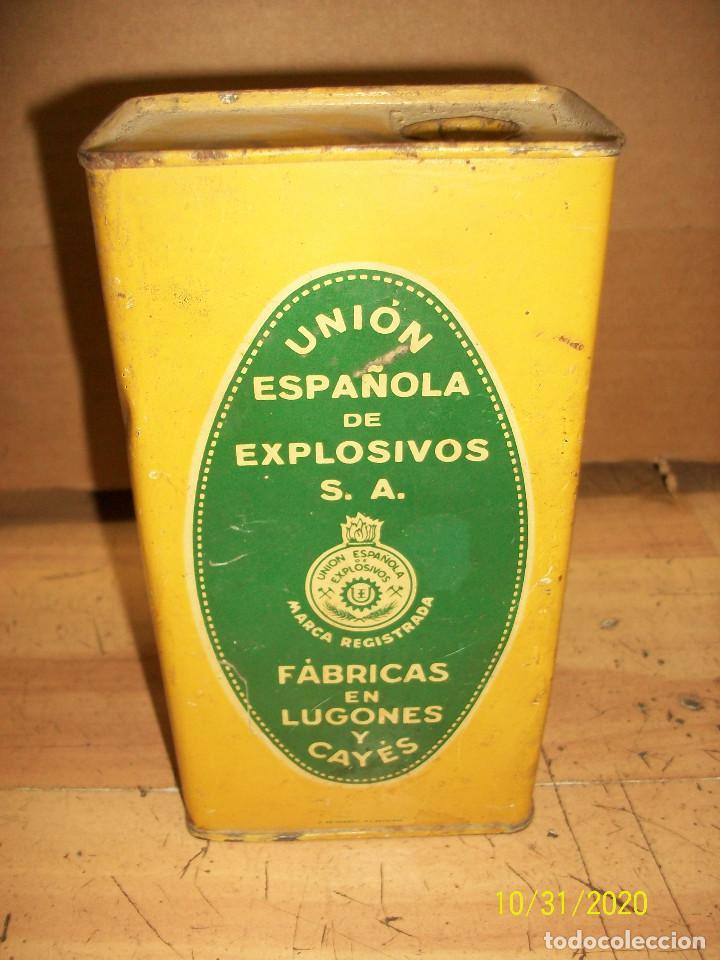Militaria: ANTIGUA LATA DE POLVORA-VACIA- UNION ESPAÑOLA DE EXPLOSIVOS - Foto 2 - 222931861
