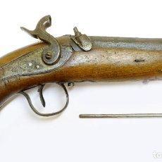 Militaria: PISTOLA DE AVANCARGA FIRMADA PEDRO JOSÉ AGUIRRE. EIBAR, 1860. Lote 223206095