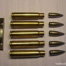 Militaria: PEINE DE 5 CARTUCHOS INERTE DE CALIBRE 7.92 X 57 MM. MAUSER, GRECIA, GUERRA CIVIL ESPAÑOLA.. Lote 225617235