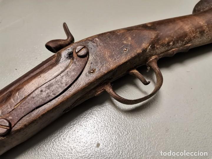 Militaria: NUMULITE Figura 0130 Fusil de pistón con bayoneta s. XVIII - XIX Arma de fuego Guerra napoleonica ? - Foto 8 - 226393181
