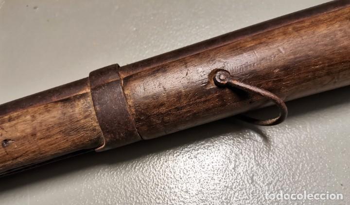 Militaria: NUMULITE Figura 0130 Fusil de pistón con bayoneta s. XVIII - XIX Arma de fuego Guerra napoleonica ? - Foto 9 - 226393181