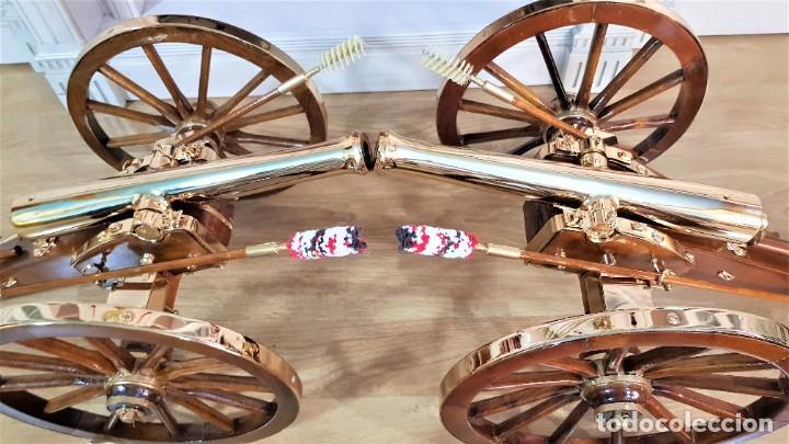 Militaria: 2X CAÑONES NAPOLEÓN III TERMINACIÓN LUJO: ORO 18K., - Foto 43 - 226454185