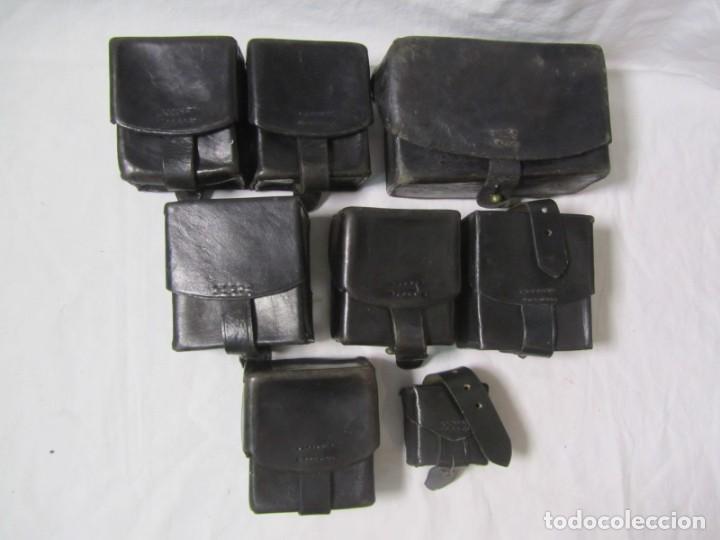 Militaria: Gran lote de cartucheras de cuero de la Guardia Civil - Foto 2 - 230607100