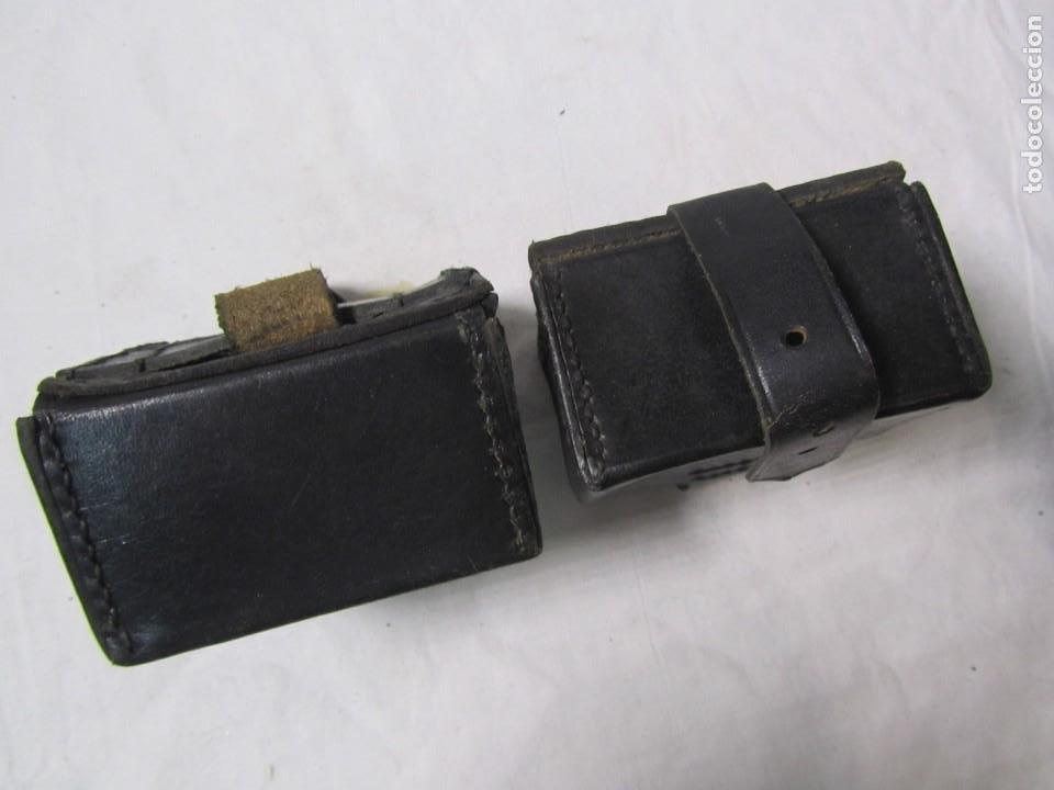 Militaria: Gran lote de cartucheras de cuero de la Guardia Civil - Foto 15 - 230607100
