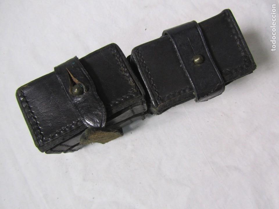Militaria: Gran lote de cartucheras de cuero de la Guardia Civil - Foto 17 - 230607100