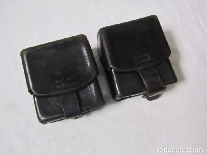 Militaria: Gran lote de cartucheras de cuero de la Guardia Civil - Foto 18 - 230607100
