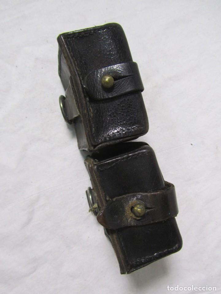 Militaria: Gran lote de cartucheras de cuero de la Guardia Civil - Foto 21 - 230607100