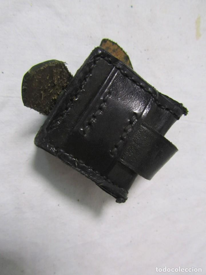 Militaria: Gran lote de cartucheras de cuero de la Guardia Civil - Foto 23 - 230607100