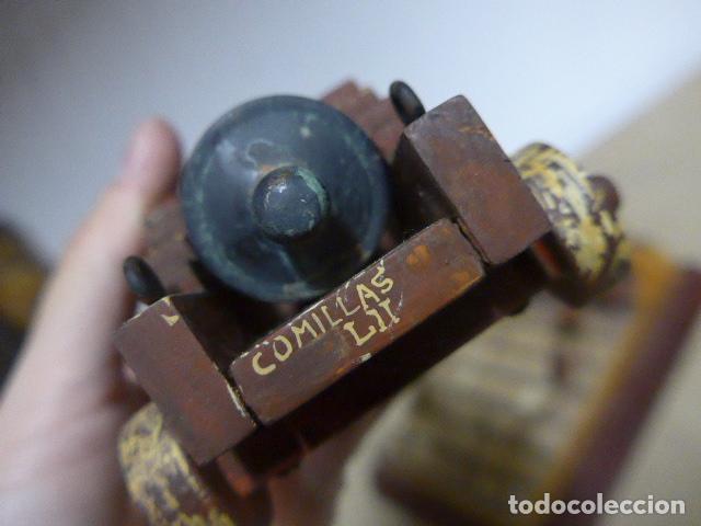 Militaria: Antigua maqueta reproduccion de cañon de metal o bronce y madera. - Foto 10 - 230935010