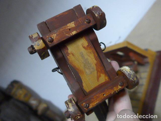 Militaria: Antigua maqueta reproduccion de cañon de metal o bronce y madera. - Foto 11 - 230935010