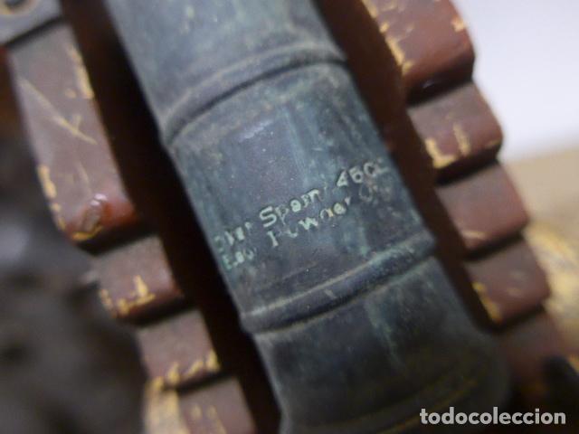 Militaria: Antigua maqueta reproduccion de cañon de metal o bronce y madera. - Foto 13 - 230935010