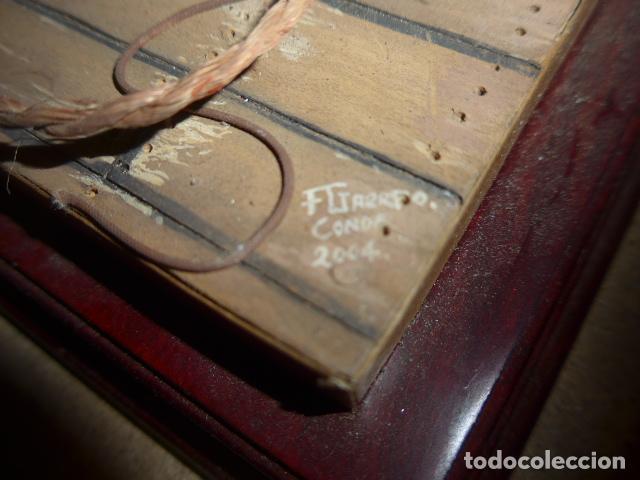 Militaria: Antigua maqueta reproduccion de cañon de metal o bronce y madera. - Foto 14 - 230935010