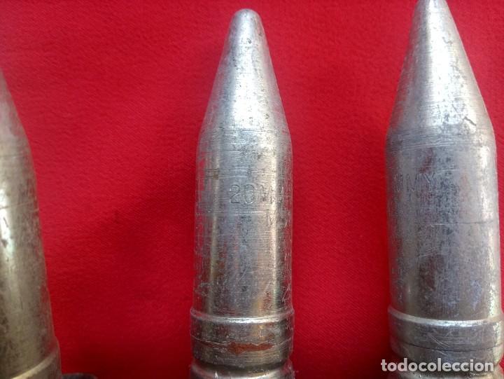 Militaria: Cinta con 6 proyectiles de 20mm de ejercicio totalmente inerte - Foto 3 - 231156475