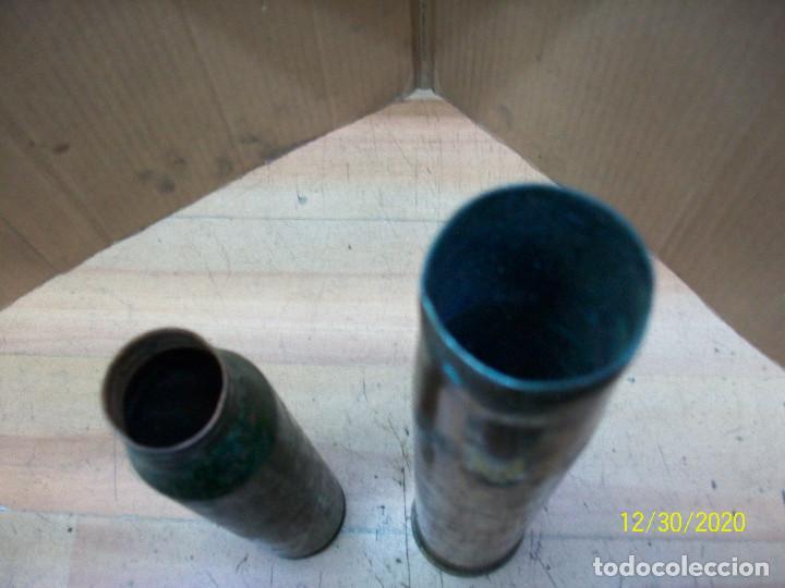 Militaria: VAINAS DE 34 MM Y 40 MM- INERTES - Foto 2 - 232495140