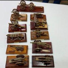 Militaria: COLECCIÓN DE 13 CAÑONES HISTORIA DE LA ARTILLERÍA PRECIO 780€. Lote 232826395