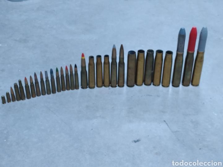 Militaria: COLECCIÓN DE PROYECTILES, MUNICIÓN, VAINAS, CARTUCHOS, BALAS, TODO INERTE - Foto 2 - 233042585