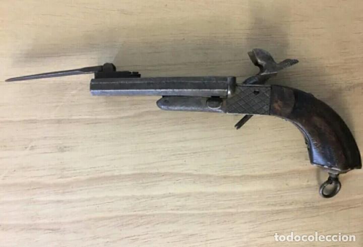 PISTOLA LEFAUCHEUX 1865 CON BAYONETA (Militar - Armas de Fuego Inutilizadas)