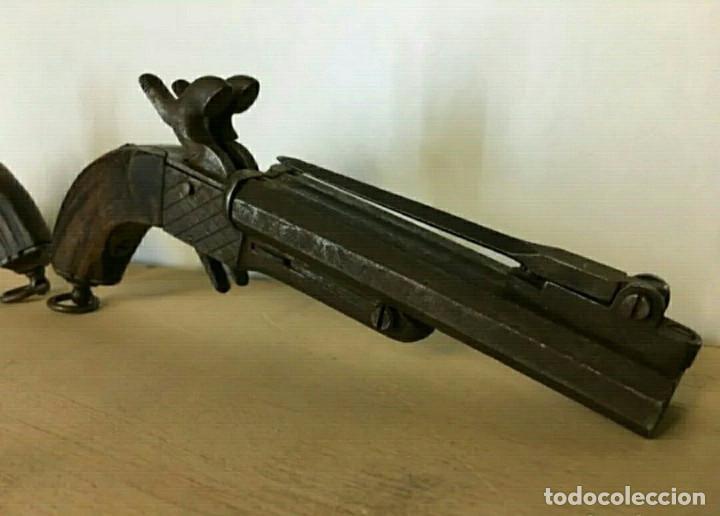 Militaria: Pistola Lefaucheux 1865 con bayoneta - Foto 3 - 233060320