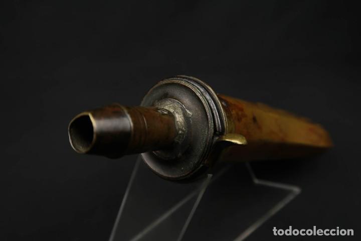Militaria: Antigua Polvorera Inglesa de Cobre - Foto 12 - 233426585