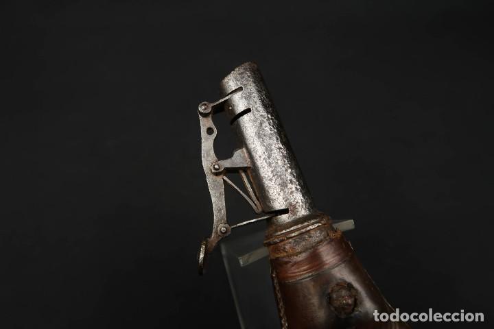 Militaria: Antigua Polvorera Inglesa de Cuero - Foto 7 - 233428155