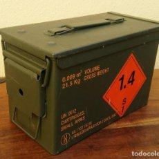 Militaria: CAJA MILITAR DE MUNICIÓN (VACÍA) PERFECTO ESTADO MIDE 30 X 15,5 X 18 CM. PARABELLUM. Lote 235685590