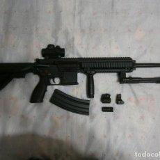 Militaria: FUSIL ASALTO HK416 FULL METAL + LARGO Y CORTO + ELECTRICO + MILITAR + GASTOS DE ENVIO INCLUIDOS. Lote 235840795