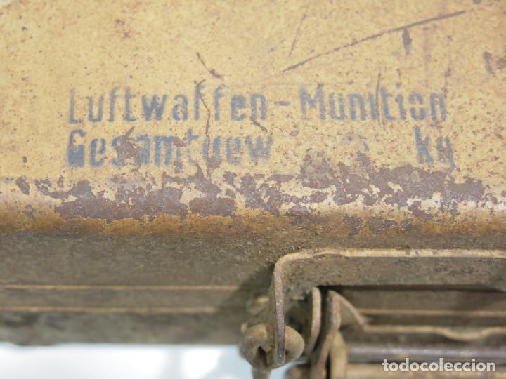 Militaria: SGM WWII ALEMANIA CAJA DE TRANSPORTE PARA LOS 3,7CM FLAK, EN COLOR ARENA Y FECHADA 1944. - Foto 2 - 236057995