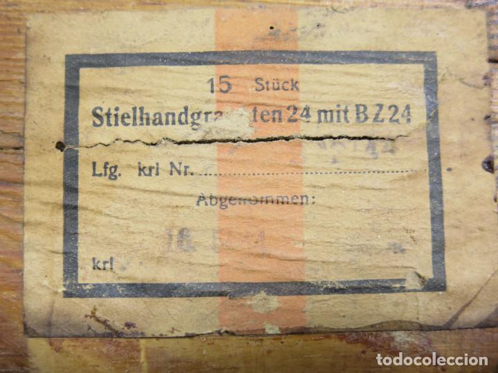 Militaria: SGM WWII WEHRMACHT ALEMANIA CAJA DE MADERA PARA TRANSPORTE DE GRANADAS DE PALO M24. - Foto 8 - 236059615