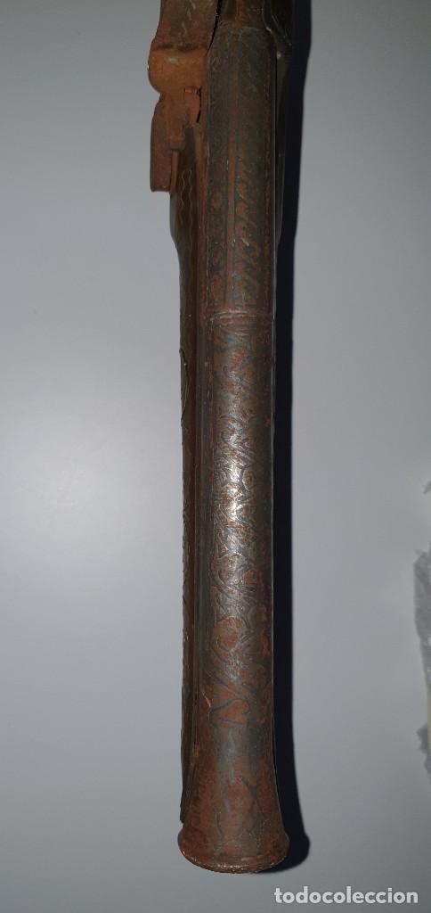 Militaria: PISTOLA TRABUCO POSIBLEM. TURCO FNLES S. XVIII PRCPIOS DEL XIX. 54 cm. MUY ORNAMENTADO - Foto 5 - 238585985
