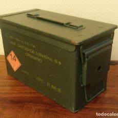 Militaria: CAJA MILITAR DE MUNICIÓN (VACÍA) MIDE 30 X 15,5 X 18 CM.. Lote 240263905