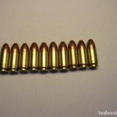 Militaria: 10 CARTUCHOS INERTES CALIBRE 9 X 19 MM., 9 PARABELLUM.. Lote 240632545