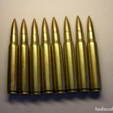Militaria: 8 CARTUCHOS INERTES CALIBRE 30-06 GARAND - SPRINGFIELD.. Lote 240633415