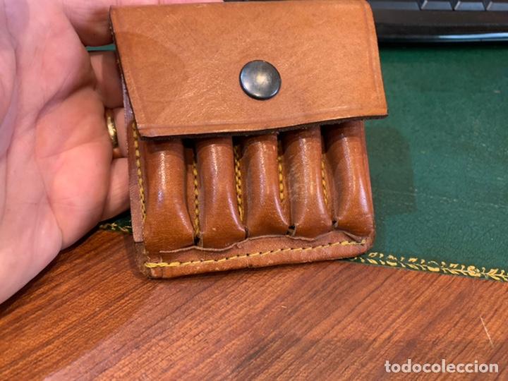 Militaria: Cartuchera cuero marrón para balas - Foto 3 - 242975845
