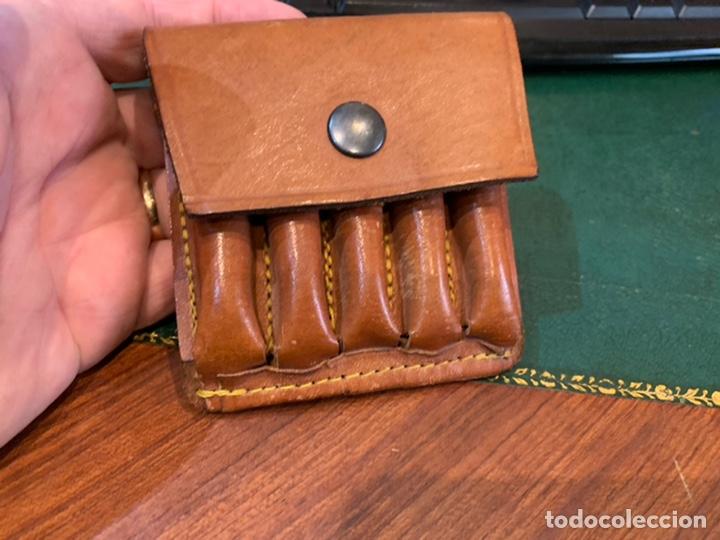 Militaria: Cartuchera cuero marrón para balas - Foto 4 - 242975845