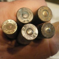 Militaria: LOTE 5 CARTUCHOS 30-06 SPRINGFIELD, SEGUNDA GUERRA MUNDIAL, INERTES. Lote 243136295