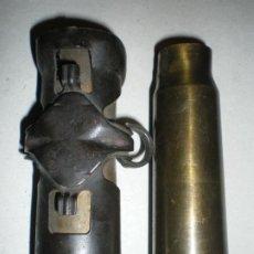Militaria: LOTE 2 VAINAS CARTUCHOS 20MM AVIACION, INERTES. Lote 243149215