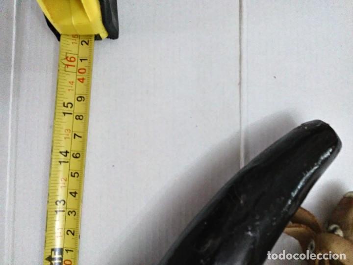 Militaria: Antigua polvorera de asta de toro 40 cm - Foto 12 - 244657050
