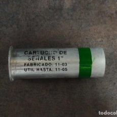 Militaria: CARTUCHO DE SEÑALES VERDE 26.5X80MM MARCA EXPAL INERTE. Lote 244813535