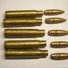 Militaria: 5 CARTUCHOS INERTES, CALIBRE 7.92 X 57 MM. MAUSER, FABRICACIÓN HÚNGARA. GUERRA CIVIL ESPAÑOLA.. Lote 244847705