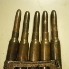 Militaria: PEINE CARGADOR MANNLICHER 6,5 X 54R, 1915, INERTE. Lote 246356040