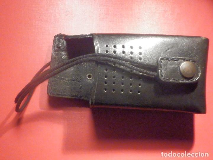 Militaria: Porta Emisora - radio Walkie - En Piel - Cuero negro - P / 6 cartuchos - Nuevo - Foto 2 - 247015345