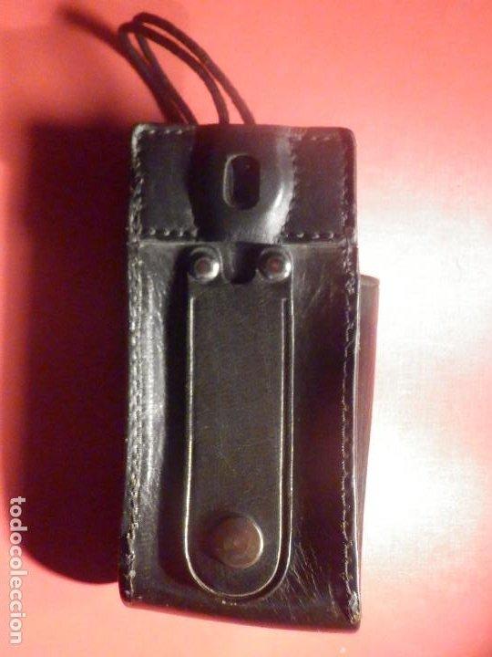 Militaria: Porta Emisora - radio Walkie - En Piel - Cuero negro - P / 6 cartuchos - Nuevo - Foto 3 - 247015345