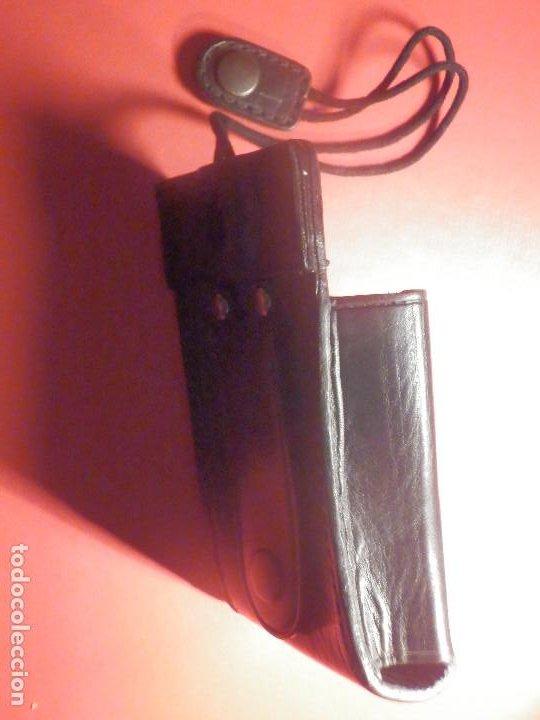 Militaria: Porta Emisora - radio Walkie - En Piel - Cuero negro - P / 6 cartuchos - Nuevo - Foto 8 - 247015345
