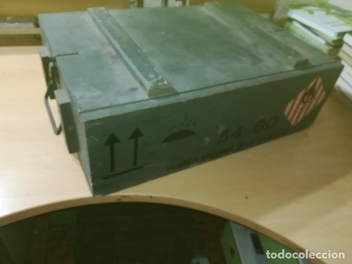 Militaria: CAJA MADERA VACIA MUNICION 54BO -- 55X38X19 CM BUEN ETSTADO VER FOTOS - Foto 2 - 247734995
