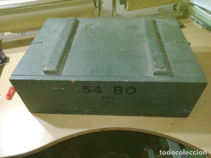 Militaria: CAJA MADERA VACIA MUNICION 54BO -- 55X38X19 CM BUEN ETSTADO VER FOTOS - Foto 4 - 247734995